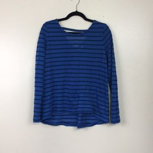 Crown & Ivy Blue/Navy Blue Lightweight Sweater
